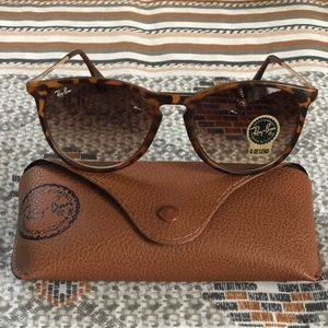 01a9cd15d4301 Ray Ban Erika RB 4171 Tortoise Brown New In Case